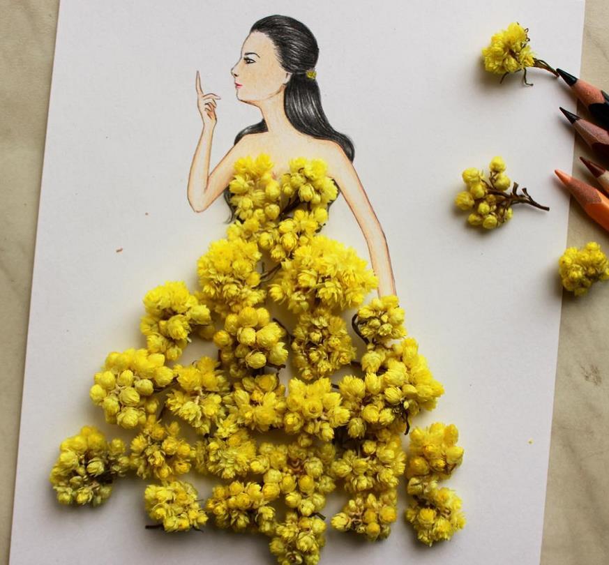 莲花叶子手绘图展示