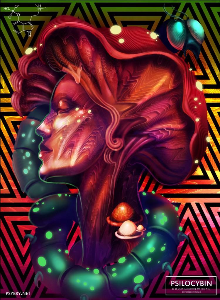 大麻迷幻脑壁纸