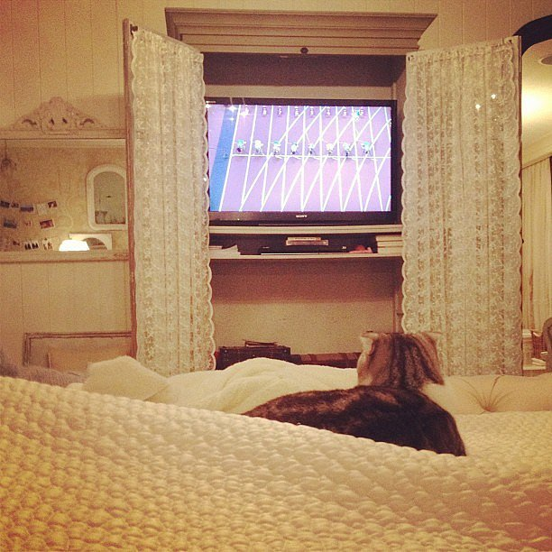 When-Meredith-gets-watch-TV-giant-screen-beautiful-room