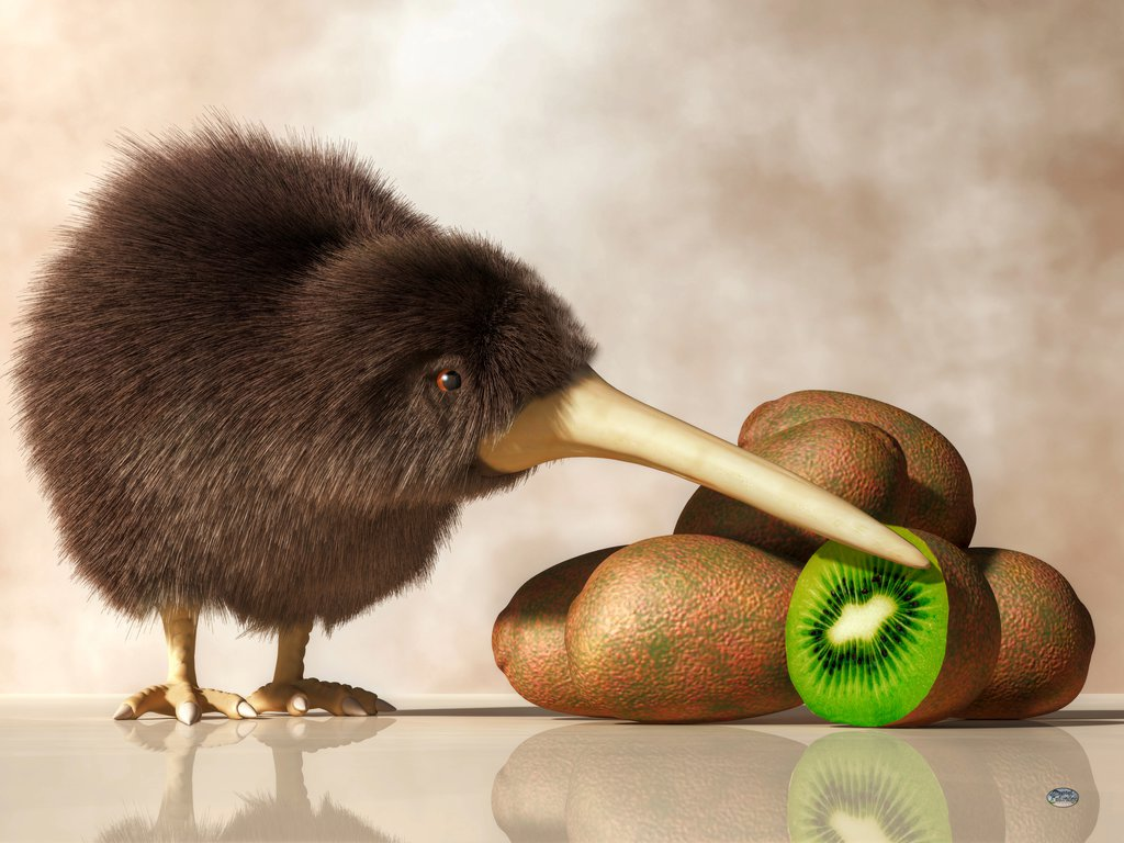 kiwi_bird_and_kiwifruit_by_deskridge-d7m34p5