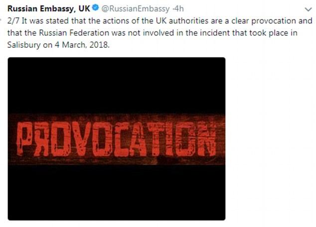 大使馆推特截图