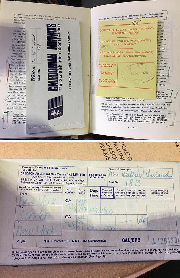 11.1970年机票